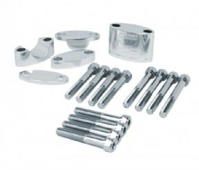 Bar Riser Kit 28.6mm Fat Bar silver